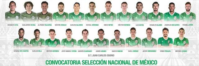 Convocados a Copa Confederaciones por México
