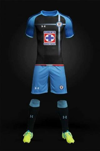 uniforme negro cruz azul
