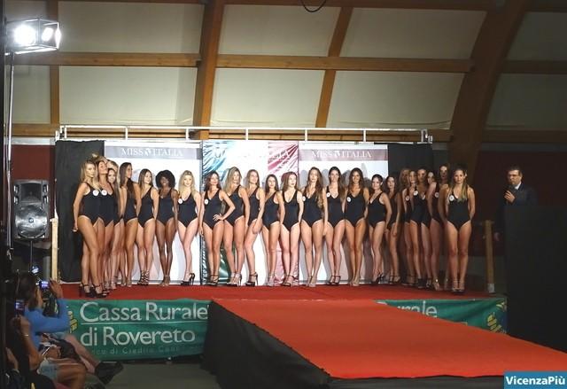 Le concorrenti a Miss Sport Veneto 2017