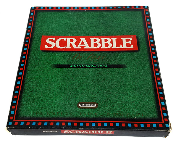 scrabble deluxe game 1988 vintage edition by spears. Black Bedroom Furniture Sets. Home Design Ideas