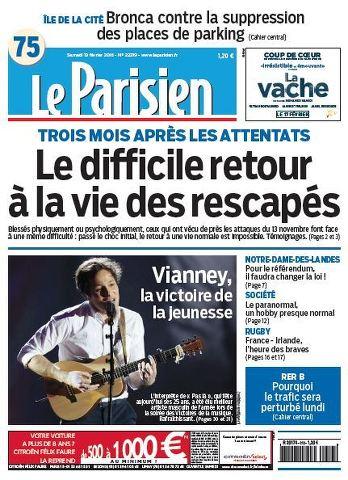 Le Parisien + Journal de Paris du Samedi 13 Février 2016