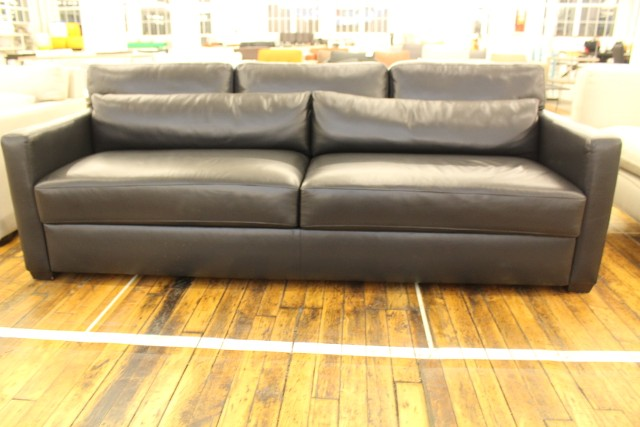 vesper king sleeper sofa ebony leather modern dwr design