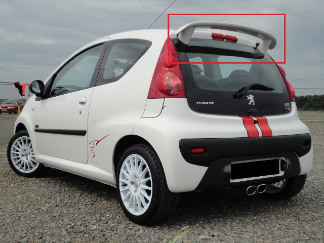 peugeot 107 citroen c1 rear roof spoiler new x line look ebay. Black Bedroom Furniture Sets. Home Design Ideas