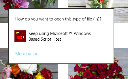 How do you want to open this type of file (.js) popup