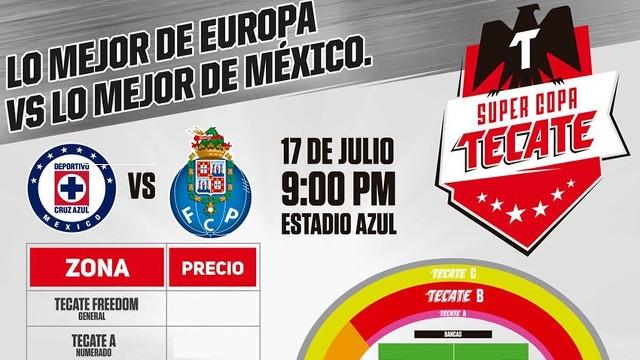 Precio del boleto para el partido entre Cruz Azul y Porto