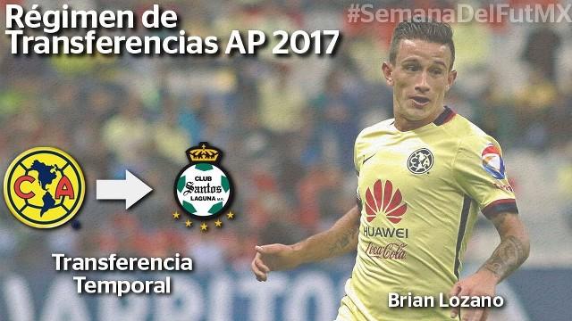 Brian Lozano se va prestado al Santos