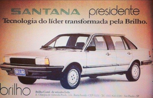 Volkswagen Santana Presidente. Tecnologia do líder transformada pela Brilho.