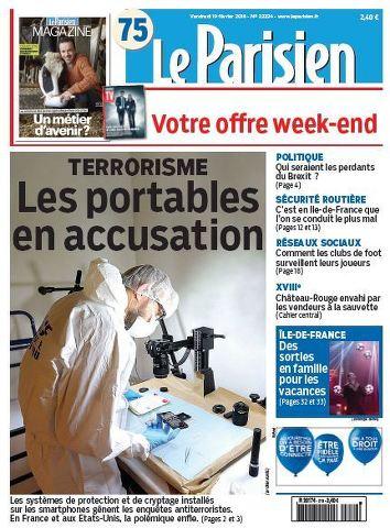 Le Parisien + Journal de Paris du Vendredi 19 Février 2016