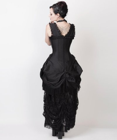neo viktorianisches kleid mit viel spitze gothic corsage victorian ballkleid wgt. Black Bedroom Furniture Sets. Home Design Ideas