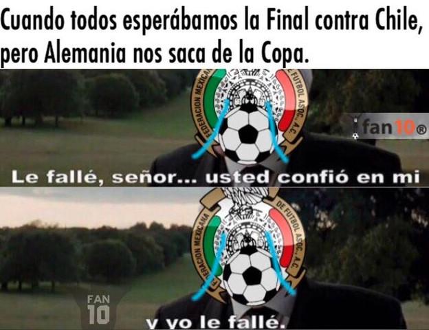 Memes de la derrota de México ante Alemania
