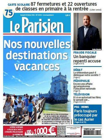 Le Parisien + Journal de Paris du samedi 20 Février 2016