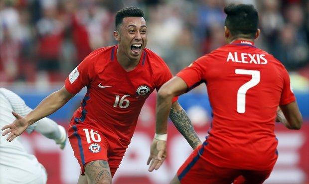 Chile empató 1-1 con Australia y se clasificó a las semifinales de la Copa Confederaciones