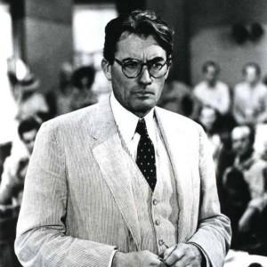 Imagem do ator Gregory Peck no filme To Kill a Mockinbird de 1962.
