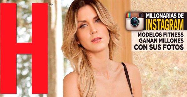 Fotos de Veronica Montes, portada de la revista H abril 2016