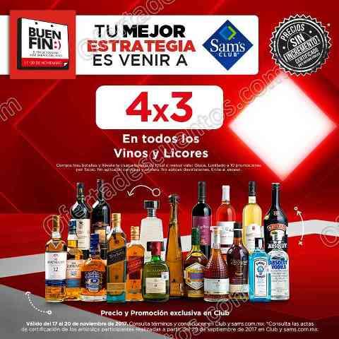 Ofertas Sams Club  en Vinos y Licores  Buen Fin 2017