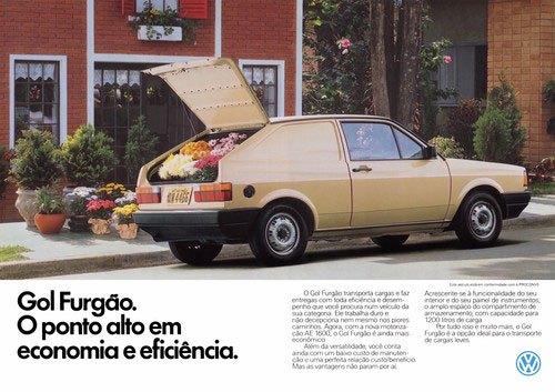 Volkswagen Gol Furgão. O ponto alto em economia e eficiência.