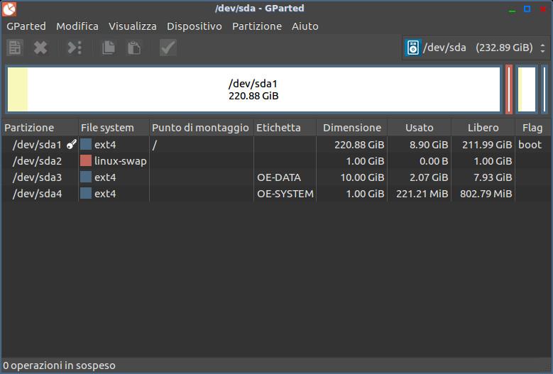 OpenELEC - GParted