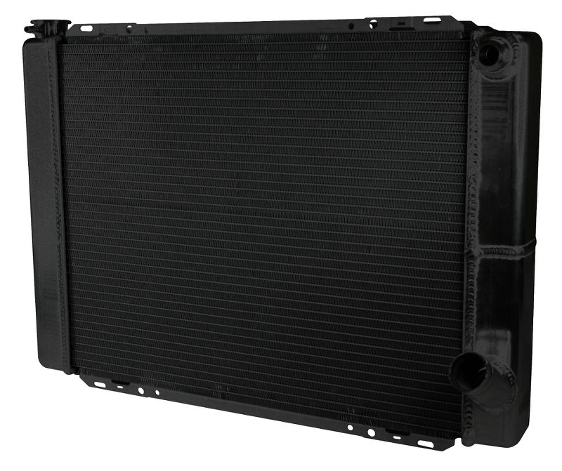 Aluminum Black  Radiator Circle Track 27.5 Inch Double Pass Chevy 16AN Inlet