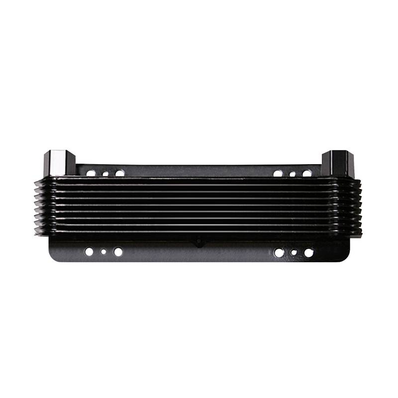 Oil Cooler, 2-3/4 x 11 x 1-1/2 Inch, 12-PaSS Stacked Plate