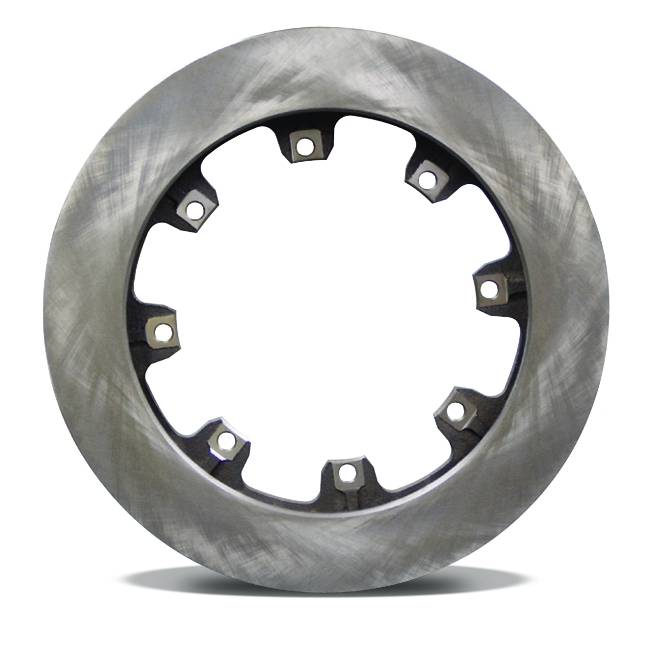 Cast Iron  Brake Rotor  Flat  Straight 32 Vane  1.25 Inches Thick  11 3/4 Inches Diameter  8 Bolt