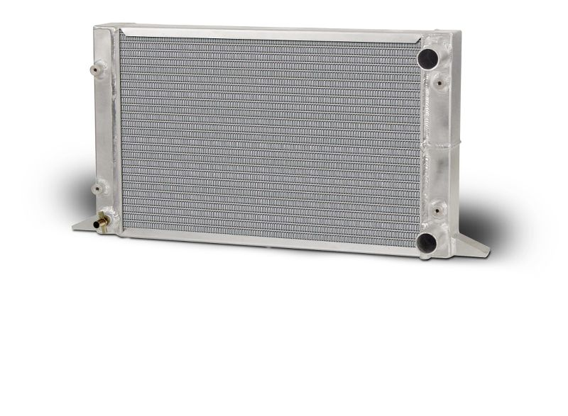 "Lightweight Single Row Sirocco Radiator-RH Double Pass w/ no filler 1.50"" in / 1.75"" Outlet"