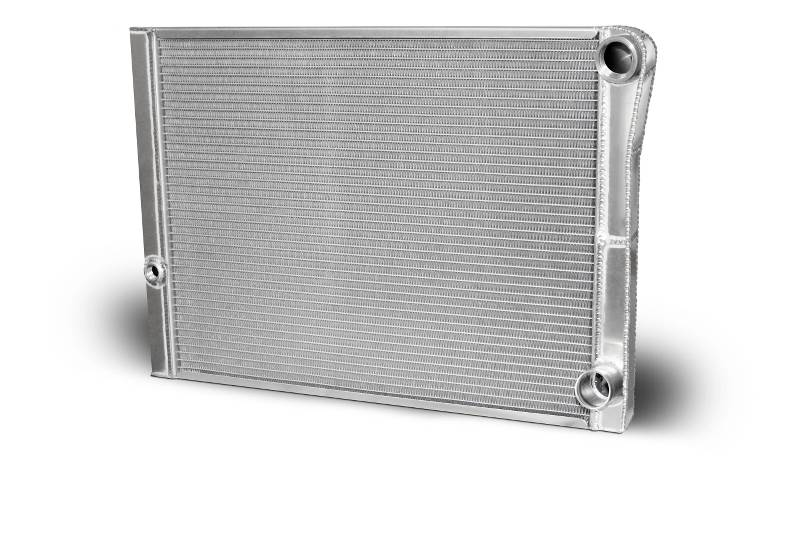 Double Pass Radiator Chevy 27.5 X 19 X 1.50 Core, Universal 20 AN Female Inlet with No Filler Neck