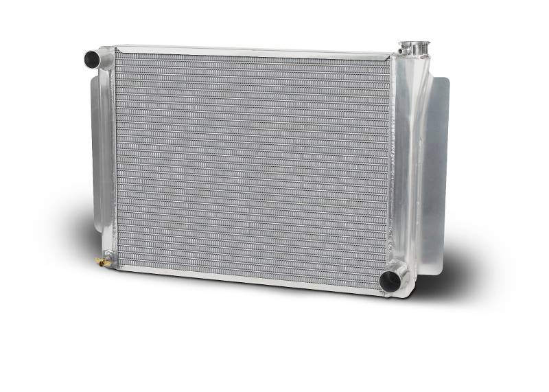 Aluminum Polish  Radiator  Drag/Performance  26 Inch  Single Pass  Chevy
