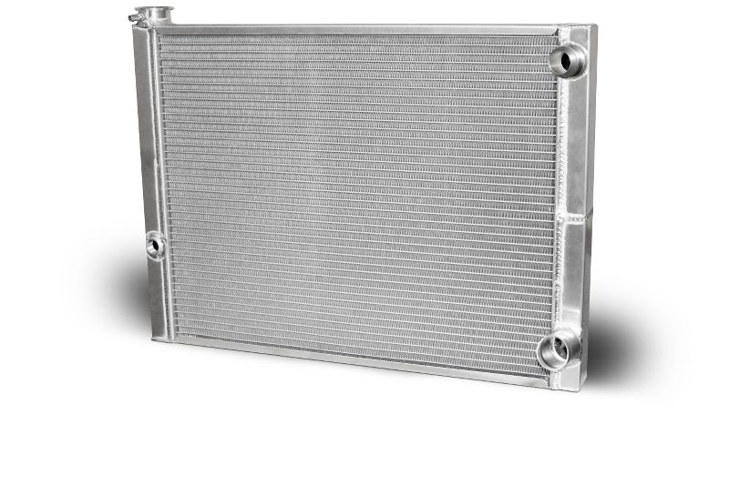 Double Pass Radiator Chevy 27.5 X 19 X 1.50 Core -20 Male Inlet