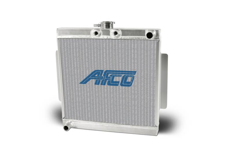 Aluminum Satin  Radiator Mini/Micro Sprint  Stand-Up  Single Pass 1 Inch Inlet/Outlet