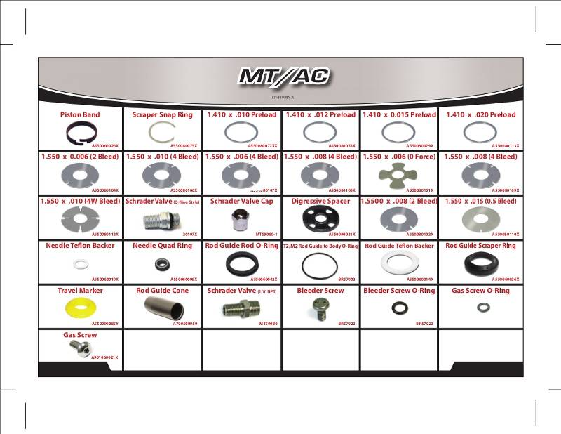 Shock Repair Kit - Non-Adjustable Monotube Accessory Kit