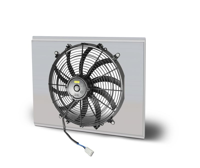 "Aluminum  Fan & Shroud Kit  18.25"" X 18.63 Inch  16 Inch   S Blade Fan"
