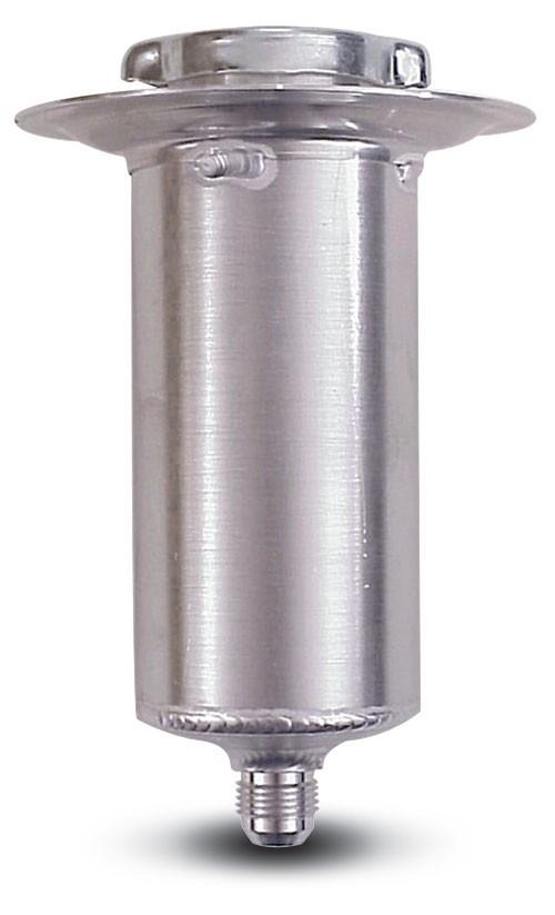 Aluminum  Rear End Filler  8-1/2 Inch Tall  10 An Outlet  1/4 Turn Cap