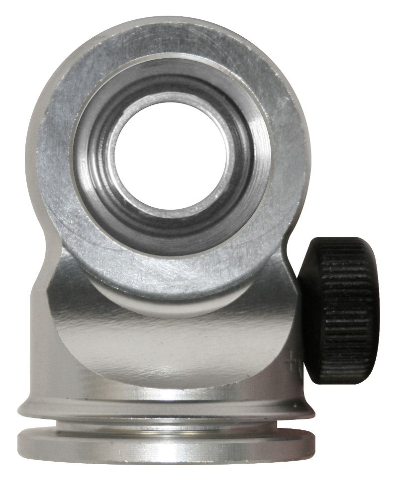 """Aluminum  Rod End  Adjustable  For 5/8 Shaft  Short  Clear  W/ 1/2"""" Bearing"""