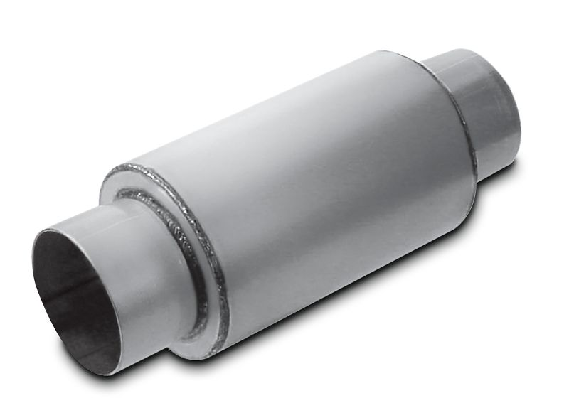 Muffler  Split Flow  Round  3.00 Inch  6.00 Inches Long    Aluminized Steel