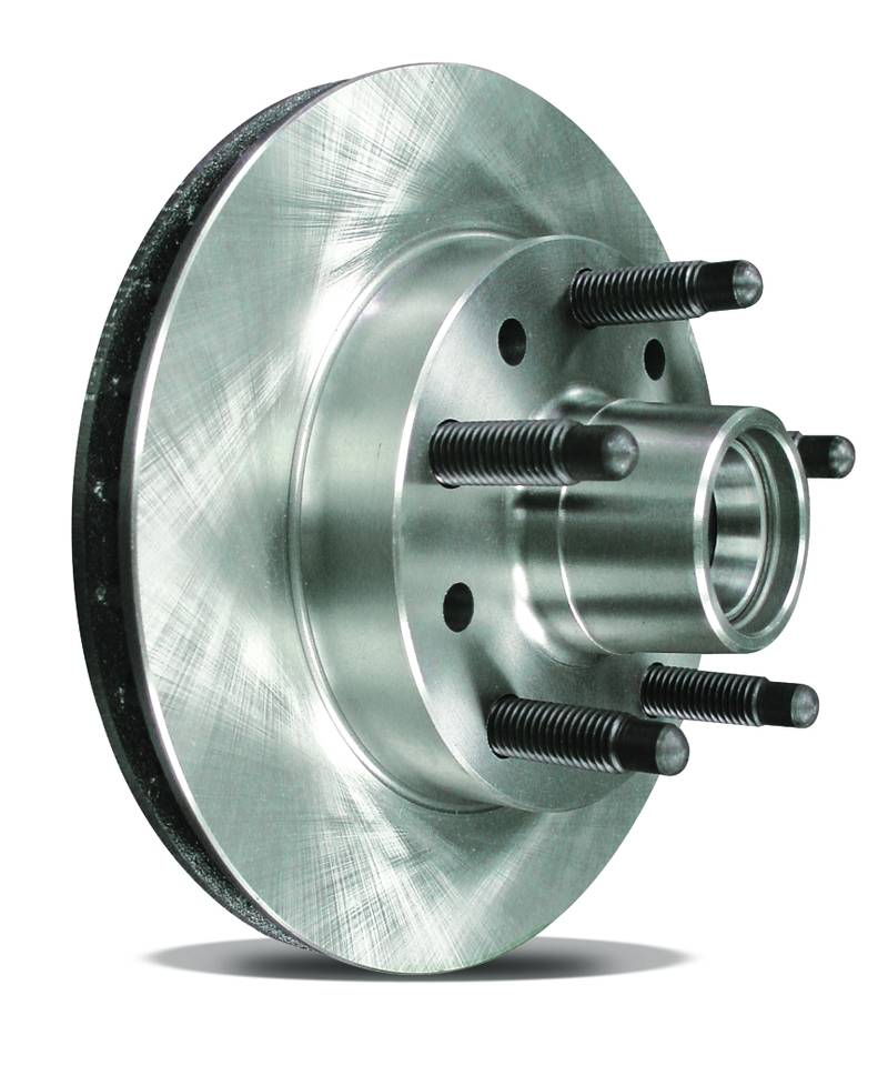 Cast Iron  Brake Hub & Rotor  Flat  1979 And Up GM Style   1.00 Inches Thick  10 1/2 Inch Diameter  5 Inch X 5 Inch Bolt Pattern - 5/8 Coarse Studs