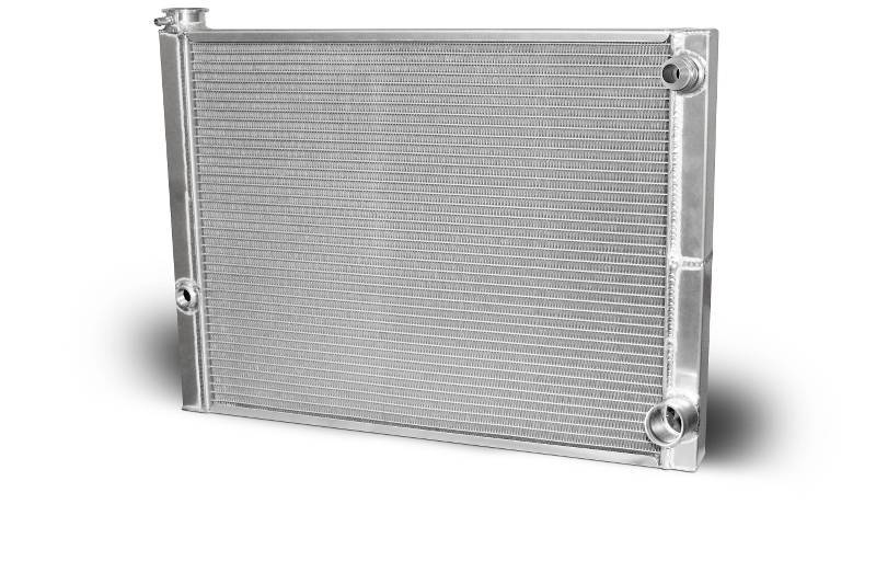 Aluminum Double Pass Radiator 26 X 19 X 1.50 Core, 16 AN Male Inlet