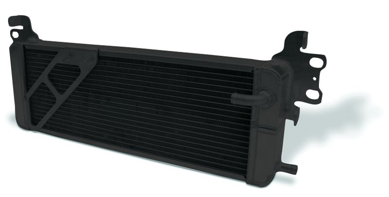 "Heat Exchanger Aluminum Black   2007 - 2012 Shelby GT500 Double Pass   (L - 26-1/4"") X (W - 3"") X (H - 8-7/8"")"