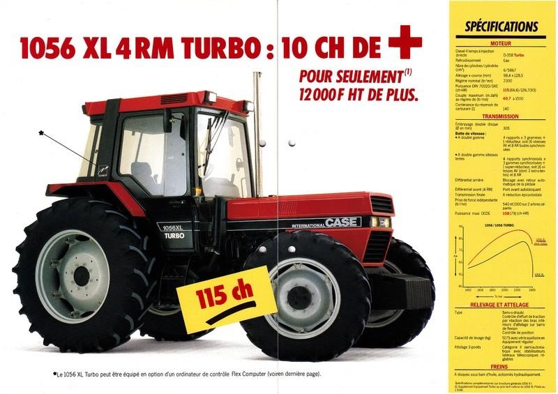 Tracteur agricole case 1056 xl