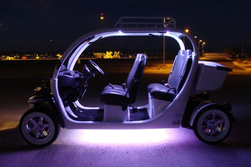 dual color led lighting so you can make the car glow purple or white. Black Bedroom Furniture Sets. Home Design Ideas