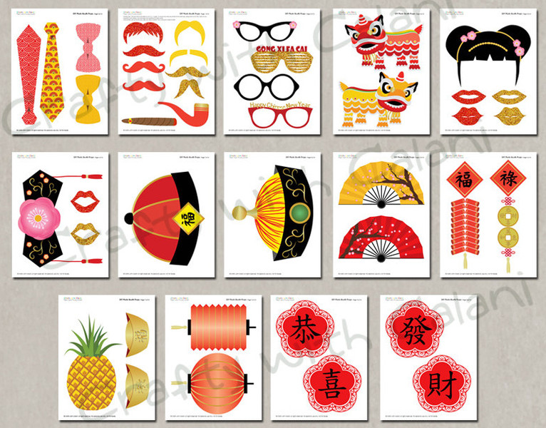 Chinese New Year printable photobooth props | Cool Mom Picks