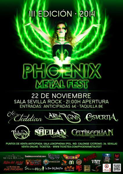 Phoenix Metal Fest. Cartel