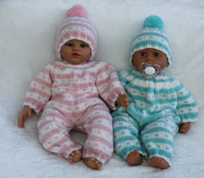 Knitting pattern for 15 - 18 inch doll onesie all-in-one ...