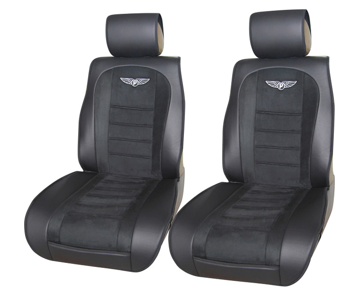 car seat covers cushions leather like 2 front solid black for infiniti ebay. Black Bedroom Furniture Sets. Home Design Ideas