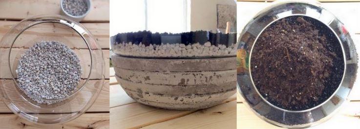 concrete-vase-soil-stones-carbon-terrario