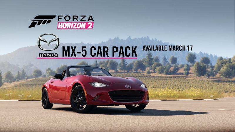 Forza Horizon 2 Mazda MX-5 Car Pack Trailer Mazda Contest Sim Racing News n7thGear