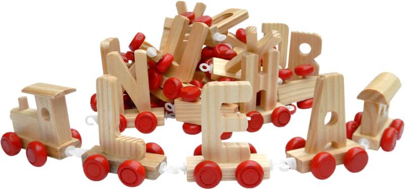 train alphabet en bois composez votre pr nom locomotive wagon queue lettres. Black Bedroom Furniture Sets. Home Design Ideas