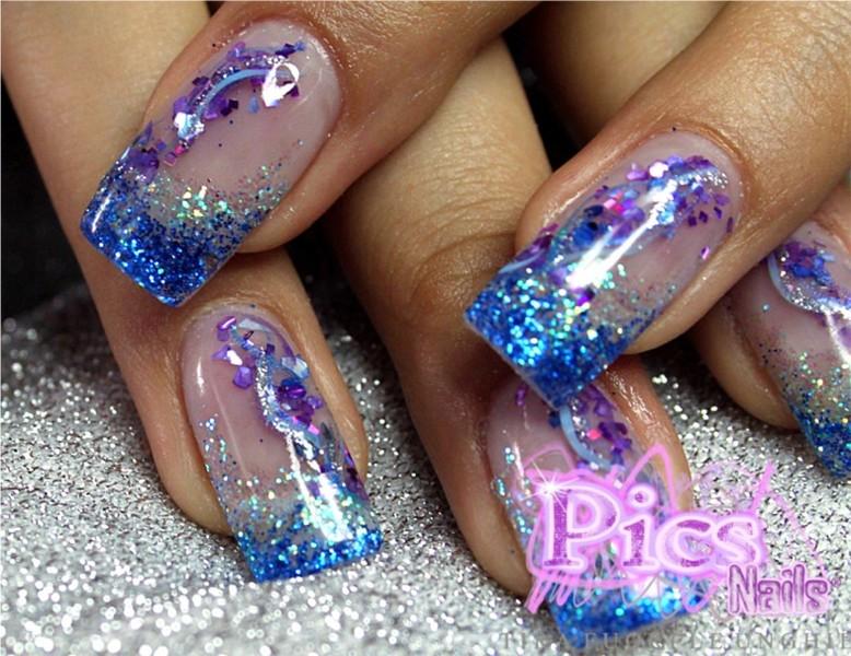 6 barattoli glitter brillantini nail art unghie - Decorazioni gialle ...