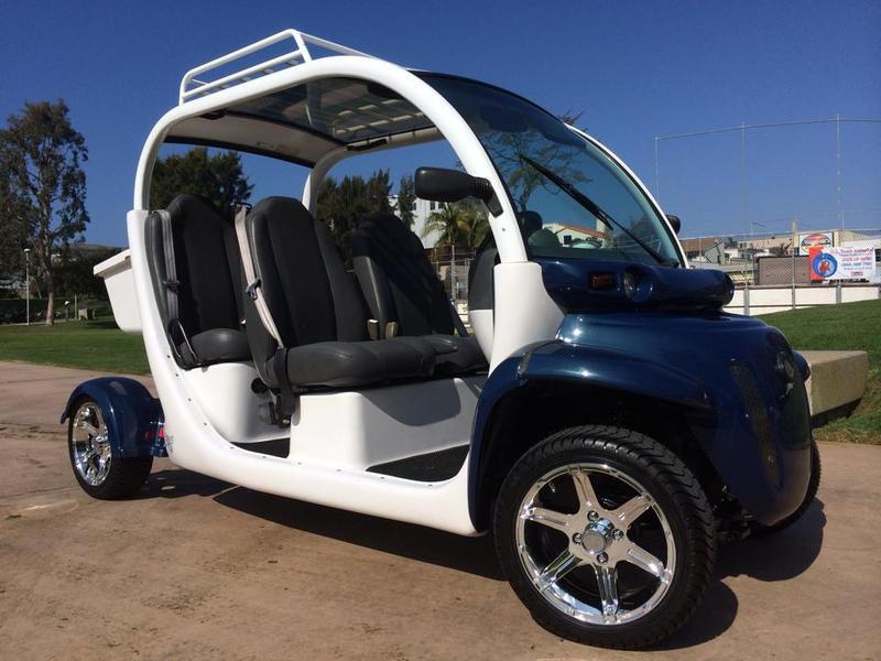 California Blue On White Custom Gem Car E4 72v Nev Golf