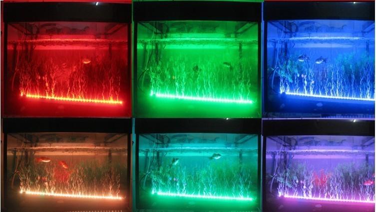 Lampada acquario tubo neon led 5050 rgb bianco blu lunare for Neon pesci prezzo