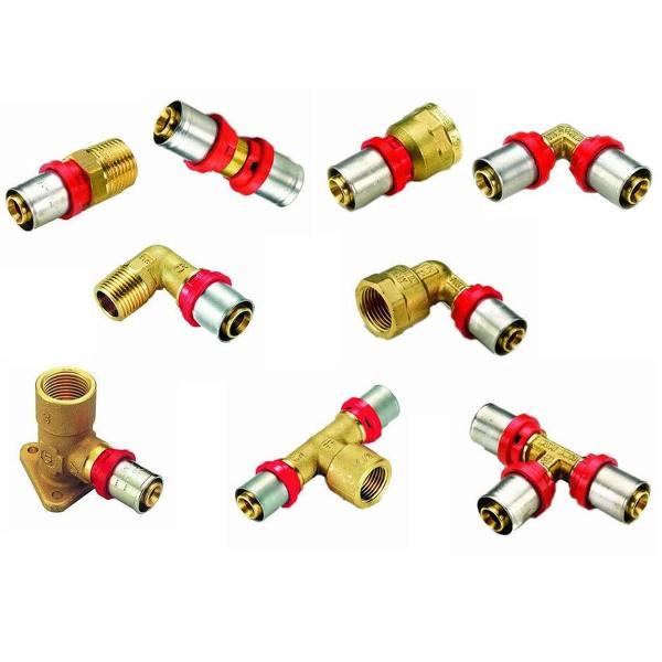 Raccordo a pressare per tubo multistrato termosifoni in for Linee d acqua in plastica vs rame